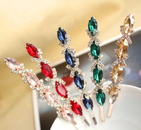 Wholesale Freeshipping Fancy Charm Crystal Hairclip Ladies Hair Accessories Party Costume Hair Jewelry