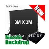 Wholesale Photographic Studio Equipment x3m Muslin Cotton Photo Chromakey Background Muslin Backdrop Black Color