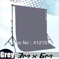 Wholesale Photographic Studio Equipment Photography x6m x20ft Cotton Cloth Photo Chromakey Grey Screen Background Muslin Backdrop