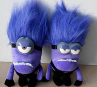 "DESPICABLE ME 2 PURPLE EVIL MINION 10"" 3D PLUSH DOLL re..."