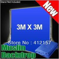 Wholesale Photographic Studio Equipment x3m Muslin Cotton Photo Chromakey Background Muslin Backdrop Blue Color
