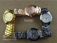 Wholesale YP Fashion Women Lady Luxury Diamond Fashion WRIST Round Dial watch golden silver with Auto Date