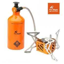2017 les types d'incendie Feu d'érable FMS-F3 de type Split nouveau camping de poêle à mazout de grande puissance four en plein air de pique-nique Équipement Essence Burner + bouteille de carburant les types d'incendie promotion