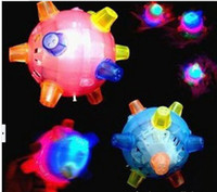 Wholesale Diameter of CM LED Flashing Dancing Ball with Music for Christmas Concert Plastic Rubber Colorful Lighting Rolling Bouncing Kids Toys