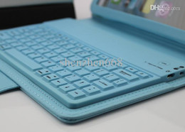 DHL 10pcs Hot Sale Hot Sale Wireless Bluetooth Keyboard leather case Cover for 7.9'' ipad Mini Protective Cases JJ07-3