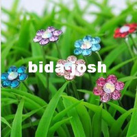 Wholesale Crystal Flower Hair Pins Wedding Party Hair Accessories Bling Bling Crystal Hair Grips