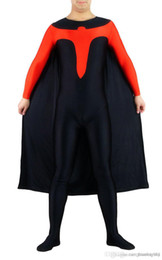 Wholesale Adult Superhero Halloween Costume with Cape inspired by Nightwing Costume YKK