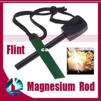 Wholesale 20pcs Survival Flint Magnesium Striker Fire Starter Stick Rod outdoor camping tool