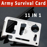 other Yes silver Free Shipping 11 in 1 Emergency Outdoor Army Survival Card Hunting Survival Kit Pocket Credit Card Knife