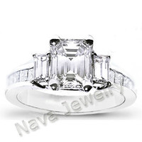 Wholesale 1 Ct Emerald Cut Diamond Engagement Ring EGL