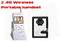Wholesale Home Security G Portable Handset Wireless Night Vision Color Camera Vidoe Door Phone Remote Intercom Doorbell System SDMemory