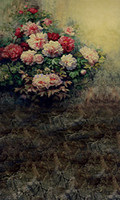 Wholesale New arrival Background fundo Gray wall with flowers feet length with feet width backgrounds LK2490