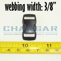 Wholesale quot mm Webbing Plastic Side Release Contoured Buckles for Paracord Bracelets amp Bag Accessories