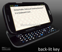 Wholesale DHL original Sliding Wireless Bluetooth Keyboard Case Cover for Samsung Galaxy S3 SIII i9300 SA