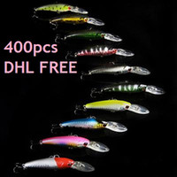 Wholesale 400PCS Colorful Plastic Minnow Bass Fishing Lure Hard Bait Tackle cm quot Baits Lures Fishing Tools DHL