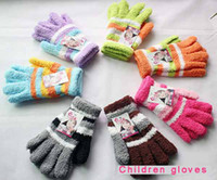 Unisex baby magic gloves - New kids children coral fleece baby magic stretch gloves fit infant to child keep warm mittens K0191