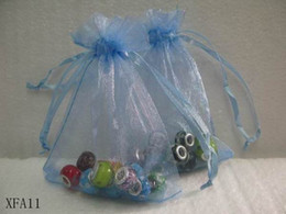 Wholesale New cm Sheer Wedding Favor Organza Pouch Gift Light Blue Wedding Candy Jewelry Bag XFA11