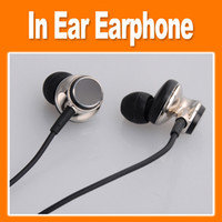 Wired Cell Phones 3.5mm In-ear Headset headphones In-Ear Earphone in ear headphones Double-shielded low-noise cable for cell phones high quality (0102044)