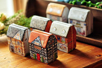 Jewelry Boxes small gift boxes - Tot zakka mini grocery luck shop full of small houses painted tin storage box jewelry box birthday gift