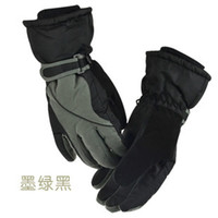Wholesale men s and women s outdoor gloves for winter waterproof thickened movement points bike gloves color