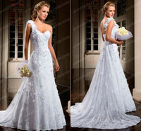 2014 Vestidos De Novia Adorable Floral One Shoulder A- Line W...