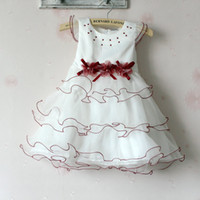 Wholesale Summer new style Girls Dresses wave dress pendulum gauze Children Dress Baby Kids Clothes TS191