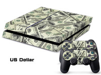 PS4   Vinyl Decal Skin Stickers Wrap For PS4 Play Station 4 Console+ Controllers-Dollars 0052