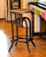 Wholesale Bar Stool Urban Vintage Industrial Retro Adjustable Height cm Rustic Antique Pewter Finish