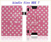 Smart Cover/Screen Cover amazon - Polka Dot Protective PU Leather Flip open Case w Stand for quot Tablet PC Amazon Kindle Fire HDX