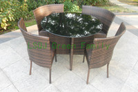 Wholesale outdoor rattan round dining furniture