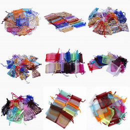 Wholesale New cm Sheer Mix Color Wedding Favor Organza Pouch Wedding Candy Jewelry Present Bag Style Choose XES