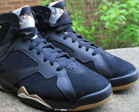 Wholesale HOT cool VII Retro GMP Golden Moment Gold Medal Pack Black Gold Mens Basketball Sneaker Shoes