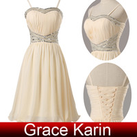 Grace Karin New Arrival Spaghetti Straps Strapless Mini Shor...