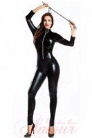 Wholesale FREE SHIP Faux Leather LINGERIE Wet Look PVC CLUBWEAR CATSUIT CATWOMAN Hen Party Fancy Dress