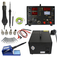 Cheap UPS Ship 853D SMD DC Power Supply Hot Air Iron Gun Rework Soldering Station Welder 6 Gift