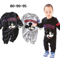 Unisex Spring / Autumn 100% Cotton Children Jumpsuit Cool Romper Round Neck Bodysuit Baby Boy Girl Cartoon Clothes Outfit Set For Newborn Aged 0-2.5y F19