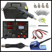 Cheap Fast Ship US Ship 853D SMD DC Power Supply Hot Air Iron Gun Rework Soldering Station Welder 6 Gift