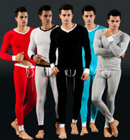 V_Neck antistatic s - Hot Men s Thermal Underwear Long Johns Soft Modal Pajama Tops Bottoms Set Tee Shirt Leggings Suit Warm Antistatic S M L