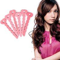 Wholesale S5Q x Cute Magic Soft Bendy Hair Rollers Foam Curlers Sponge Strip DIY Styling AAAARH