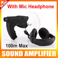 Wholesale Sound Amplifier Mic Headphone Monocular Bionics Ear Listening Audio Telescope