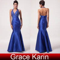Grace Karin Exquisite Beading Sequins Halter Mermaid Evening...