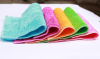 Wholesale 23 CM Double layer bamboo fibre Not sticky oil towel wash towel kitchen microfiber cleaning cloths hot