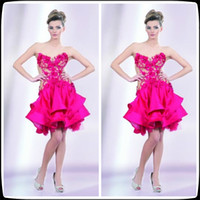 Model Pictures Strapless Taffeta Top Selling Cheap Strapless Backless Mini Sleeveless Taffeta Ball Gown Taffeta Sexy Lace Cocktail Dresses Short 2014