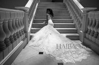 Cheap Berta Spring 2014 Mermaid Lace Wedding Dresses Chapel Train Tulle Sheath V Backless Wedding Bridal Gowns Elegant Custom Made