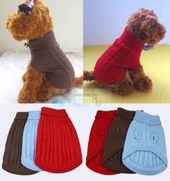 Wholesale Dog Pet Sweater Coat Clothes Multi color Aran Knit Soft Cozy D4
