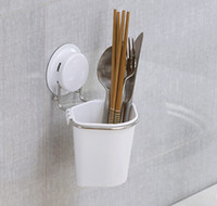 Wholesale Suction Storage Cup and Holder Sucker Knife and Fork Cup Chopsticks Rack Holder Kitchen Multifunctional Storage