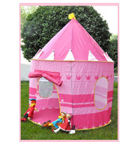 Wholesale Prince and Princess Palace Castle Children Playing Indoor Outdoor Kid tent Toy Tent colors mixed