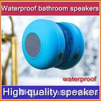 Wholesale CH Mini Waterproof Wireless Bluetooth Speakers Handsfree Speakerphone for iPhone iPad Smartphone Galaxy S4 Note Tablet PC Laptop JL00