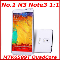 5.7 Android 1G No.1 N3 Note3 N9000 N9006 5.7 inch OGS HD Screen MTK6589T QuadCore 1G RAM 8G ROM Android 4.2 13MP OTG 3G Mobile phone GPS Wifi phone