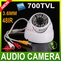 Wholesale 700TVL SONY COLOR CCD IR mm Lens wide angle CCTV Dome Camera for H